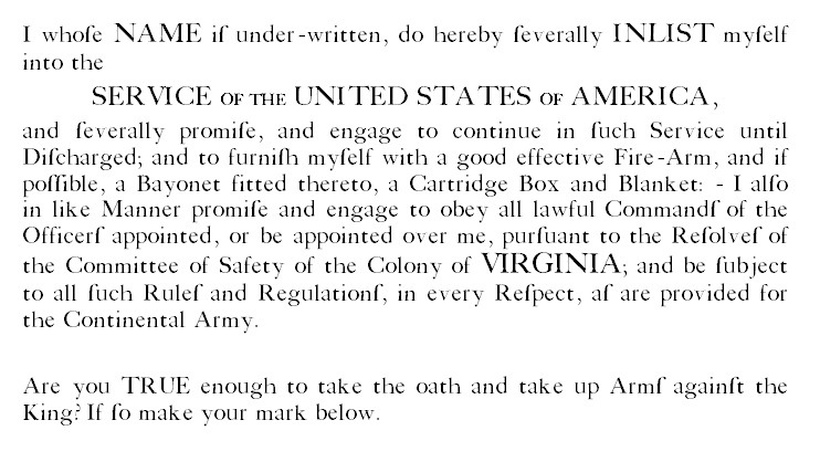 Enlisted Oath