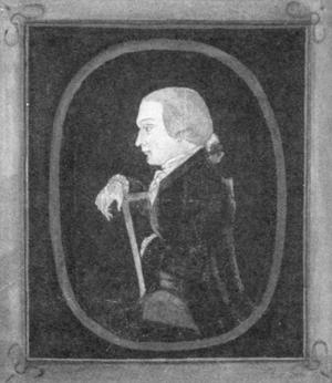Watercolor portrait of Edmund Dickinson (Colonial Williamsburg Foundation 2000-100)